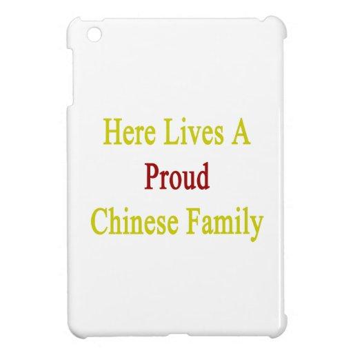 Aquí vive una familia china orgullosa iPad mini carcasas