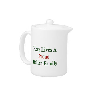 Aquí vive una familia italiana orgullosa