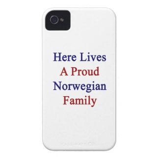 Aquí vive una familia noruega orgullosa iPhone 4 Case-Mate cobertura