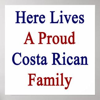 Aquí vive una familia orgullosa de Rican de la cos Impresiones