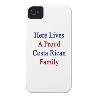 Aquí vive una familia orgullosa de Rican de la iPhone 4 Case-Mate Cárcasa