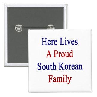 Aquí vive una familia surcoreana orgullosa pins