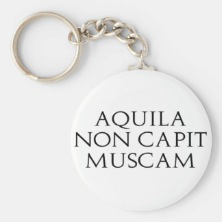 Aquila Non Capit Muscam Basic Round Button Keychain