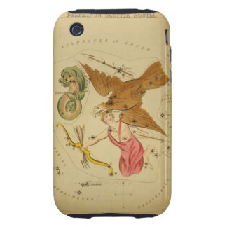 Aquila the Eagle - Vintage Astronomical Star Chart Tough iPhone 3 Cover