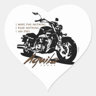 Aquila The Poet Heart Sticker