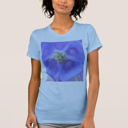 Aquilegia Flower Ladies T Shirt