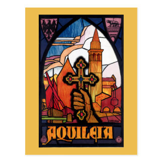 Aquileia Vintage Italian Travel Poster Postcard