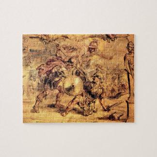 Aquiles derrota a Hector de Paul Rubens Rompecabeza