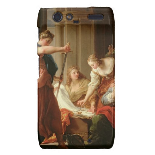 Aquiles en la corte de rey Lycomedes con su D Motorola Droid RAZR Carcasa