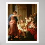 Aquiles en la corte de rey Lycomedes con su D Posters