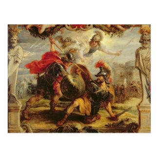 Aquiles que derrota a Hector, 1630-32 Postal