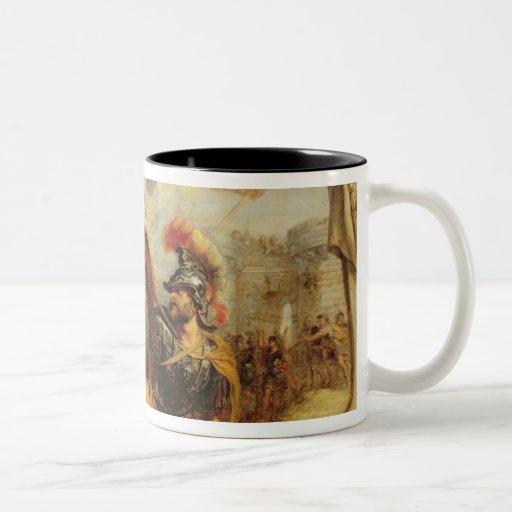 Aquiles que derrota a Hector, 1630-32 Tazas