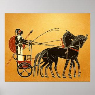 Aquiles y Patroclo en Troya Póster
