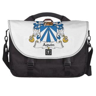 Aquin Family Crest Laptop Bags