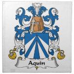 Aquin Family Crest Printed Napkin