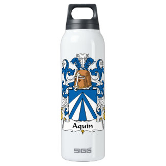 Aquin Family Crest 16 Oz Insulated SIGG Thermos Water Bottle