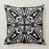 Aquina : Black & White Modern Tribal Cushion Throw Pillows