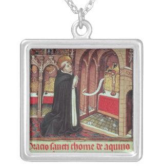 Aquinas'Libro de Horas de Alfonso el Silver Plated Necklace