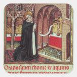 Aquinas'Libro de Horas de Alfonso el Square Sticker