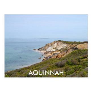 AQUINNAH - GAY HEAD CLIFFS POSTCARD