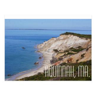 Aquinnah Massachusetts cliffs overlooking ocean Postcard