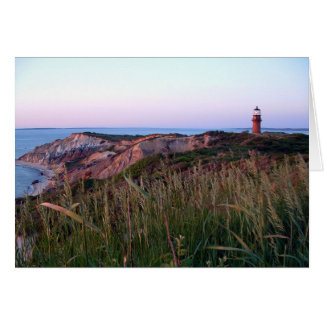 Aquinnah Sunset and Lighthouse Card