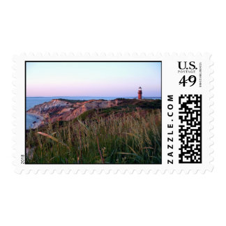 Aquinnah Sunset and Lighthouse Postage Stamp