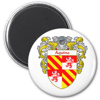 Aquino Coat of Arms (Mantled) Magnet