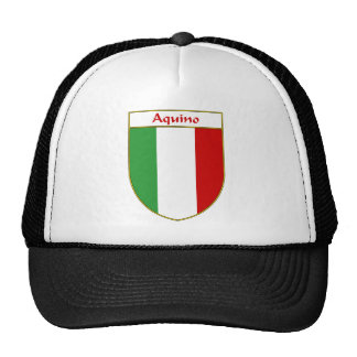 Aquino Italian Flag Shield Trucker Hat