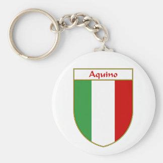 Aquino Italian Flag Shield Keychains