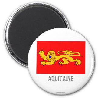 Aquitaine flag with name fridge magnets