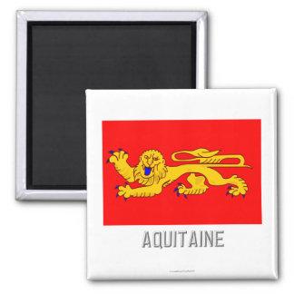 Aquitaine flag with name refrigerator magnet