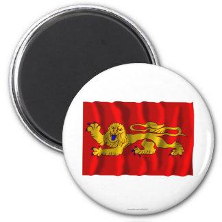 Aquitaine waving flag refrigerator magnets