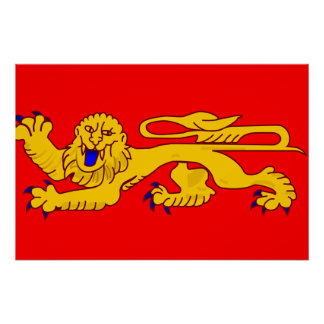 Aquitania, bandera de Francia Posters