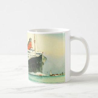 AQUITANIA CUNARD WHITE STAR LINE SHIP COFFEE MUG