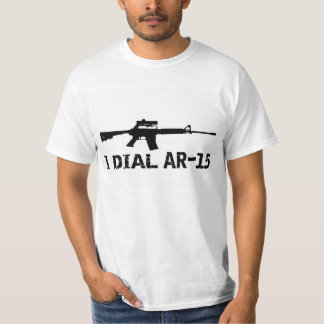 Ar15 2nd Amendment 'I DIAL AR-15' PRO GUN T-Shirt