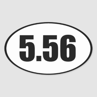 ar15 5.56 oval sticker