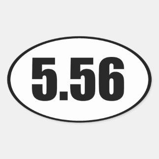ar15 5,56 pegatina ovalada
