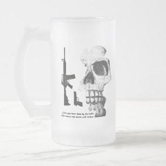 AR15 92FS con el cráneo Tazas De Café