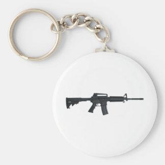 AR15 assault rifle Basic Round Button Keychain
