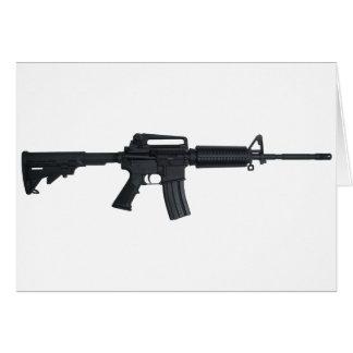 AR15 assault rifle Card