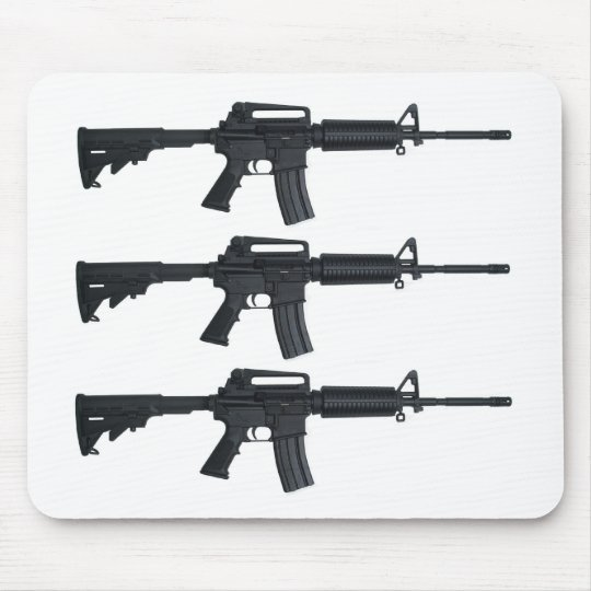 AR15 assault rifle Mouse Pad