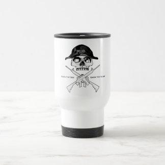 AR15 Cross Bones 15 Oz Stainless Steel Travel Mug
