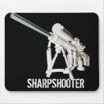 AR15 Mouse Pad- Sharpshooter w/ mil dot reticle
