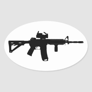 ar15 oval sticker