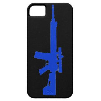 AR-15 caso universal del iPhone 5 azules iPhone 5 Case-Mate Carcasas