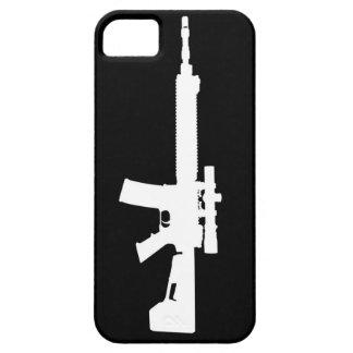AR-15 caso universal del iPhone 5 blancos iPhone 5 Case-Mate Funda