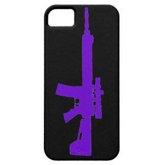 AR-15 caso universal del iPhone 5 púrpuras iPhone 5 Coberturas