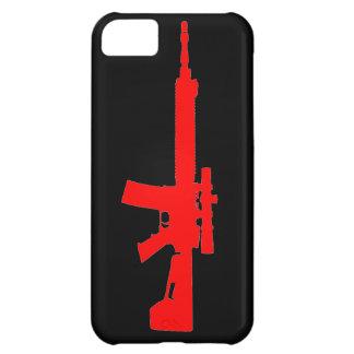 AR-15 caso universal del iPhone 5 rojos