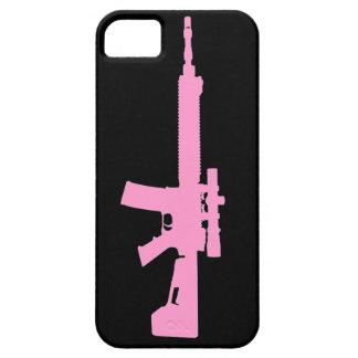 AR-15 caso universal del iPhone 5 rosados iPhone 5 Cárcasas
